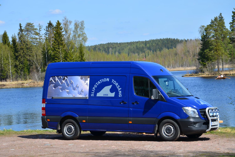 Bild på turbil Slipstation Torsång